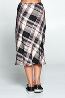 Womens' Plaid Midi Skirt