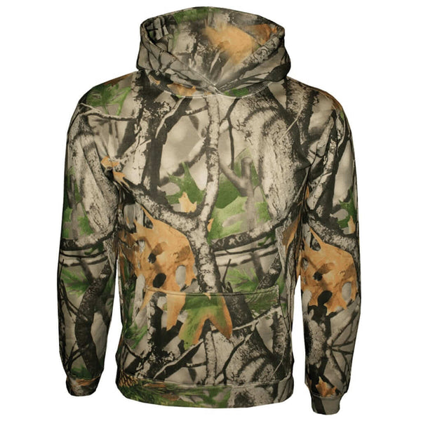 Youth Camo Pullover Hooded Sweatshirt - Indoor Angels