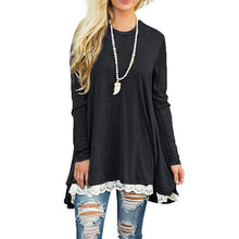 Women's Long Sleeve Loose Tunic T-shirt - Indoor Angels