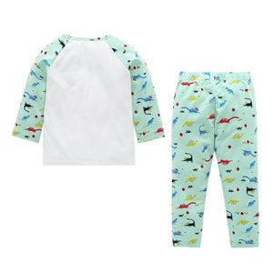 Boys Cute Dinosaur Fashion Pajamas Set
