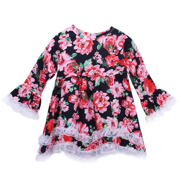 Toddler Girls Floral Fashion Dress