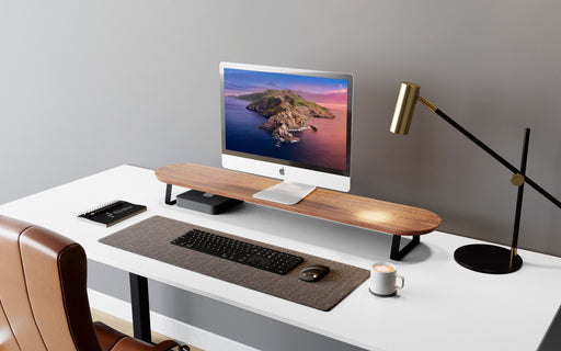 RISE DESK STAND FOR MONITOR - WALNUT & BLACK
