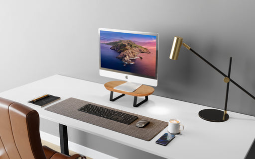 RISE MINI DESK STAND FOR MONITOR - SOLID ASH WOOD