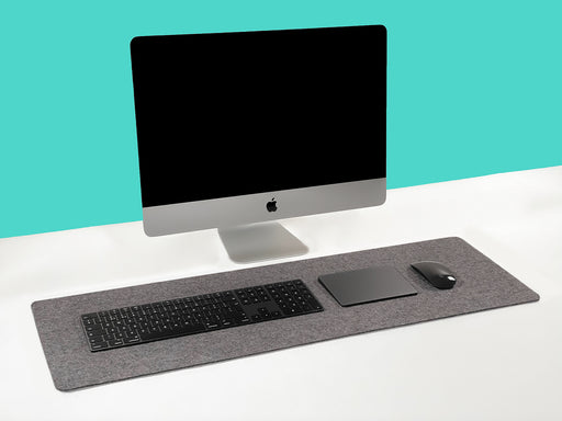 WOOL FELT DESK PAD (DARK GREY)
