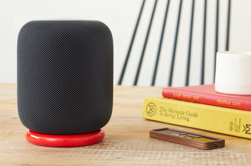 HALO STAND FOR APPLE HOMEPOD - RED BAMBOO