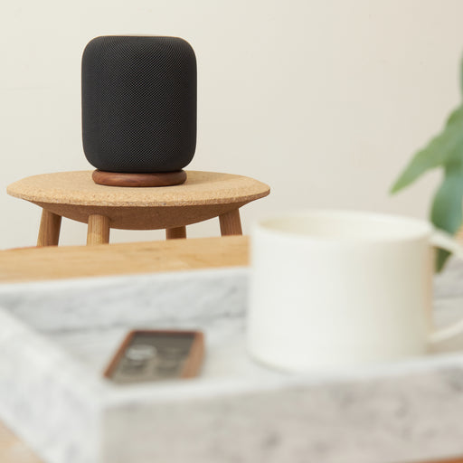 HALO STAND FOR APPLE HOMEPOD - WALNUT