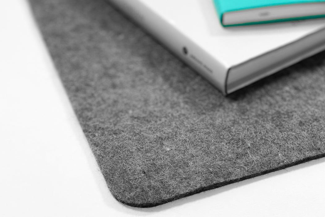 WOOL FELT DESK PAD (DARK MOTTLED GREY)