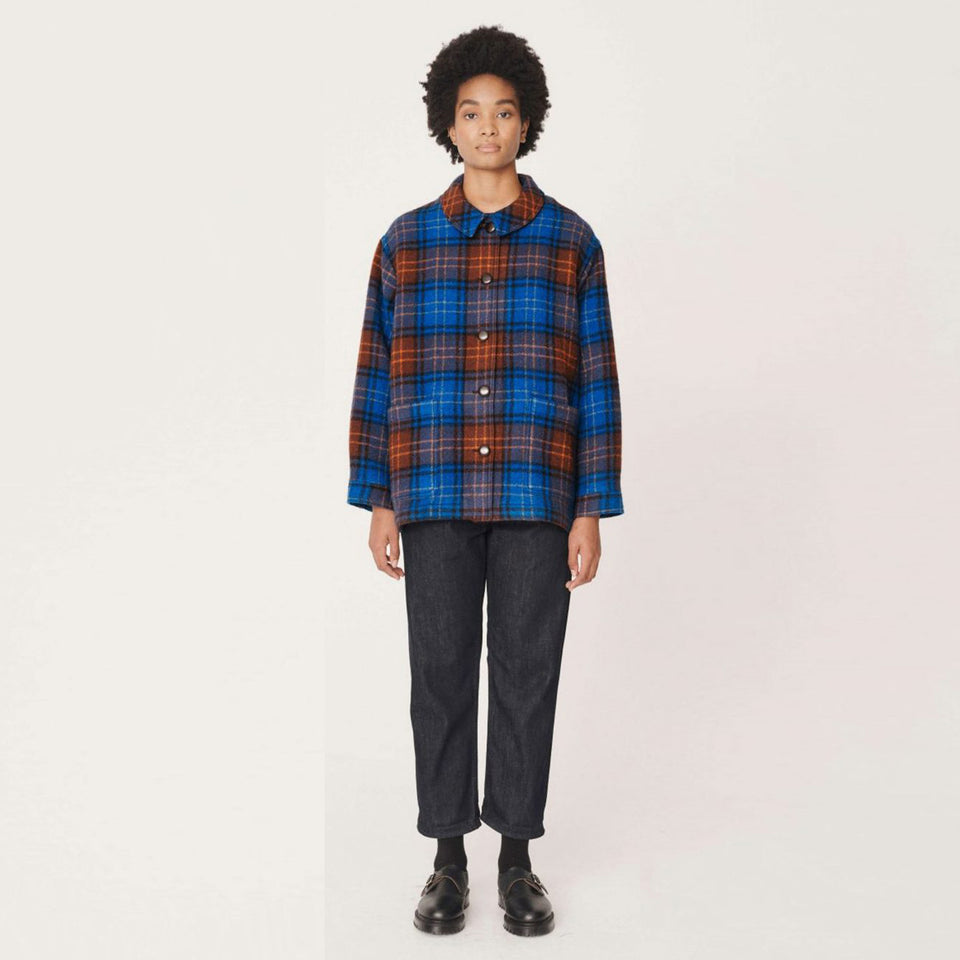 FANNY VIRGIN CHECK WOOL JACKET TARTAN