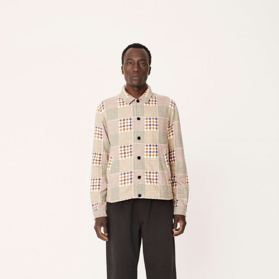 BOWLING COTTON FLANNEL CHECK SHIRT MULTI