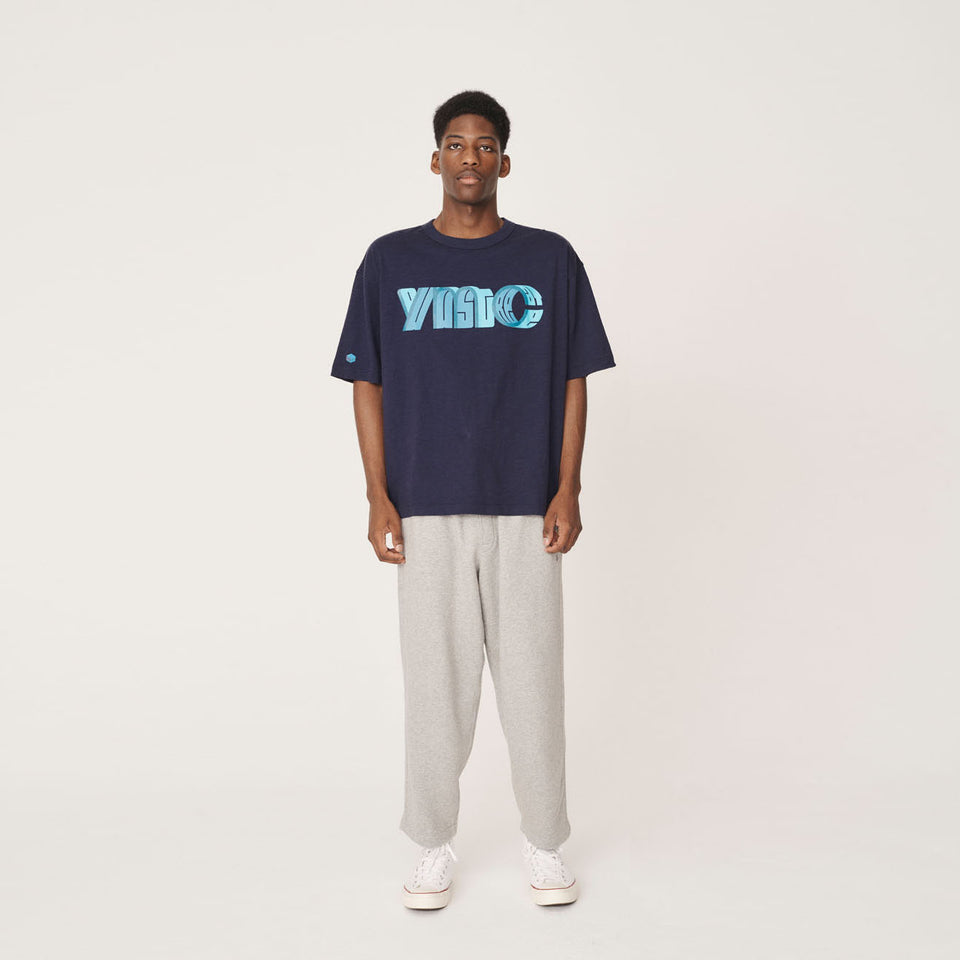 YMC x PREF - TRIPLE SS COTTON T-SHIRT 95 YMC FRONT NAVY