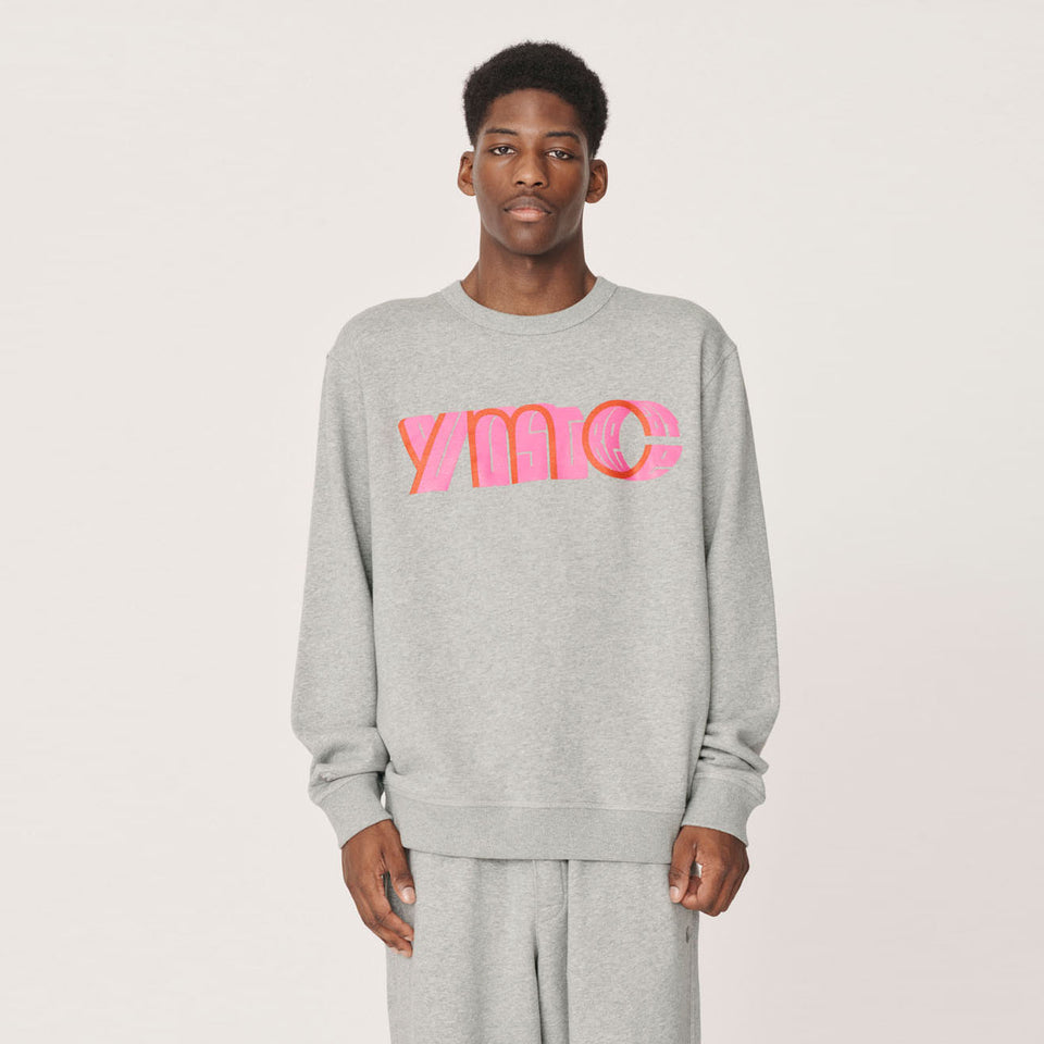 YMC  x PREF - TRIPLE CREW COTTON SWEATSHIRT 95 GREY