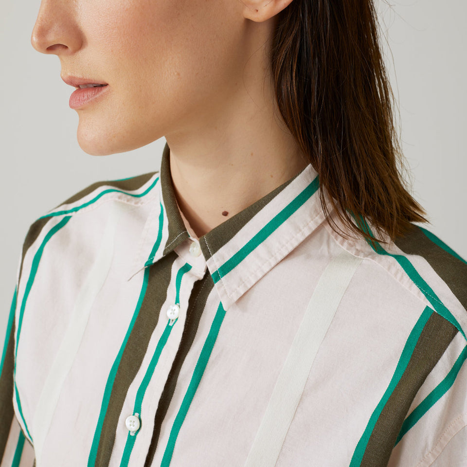 Cotton Blouse with Stripes