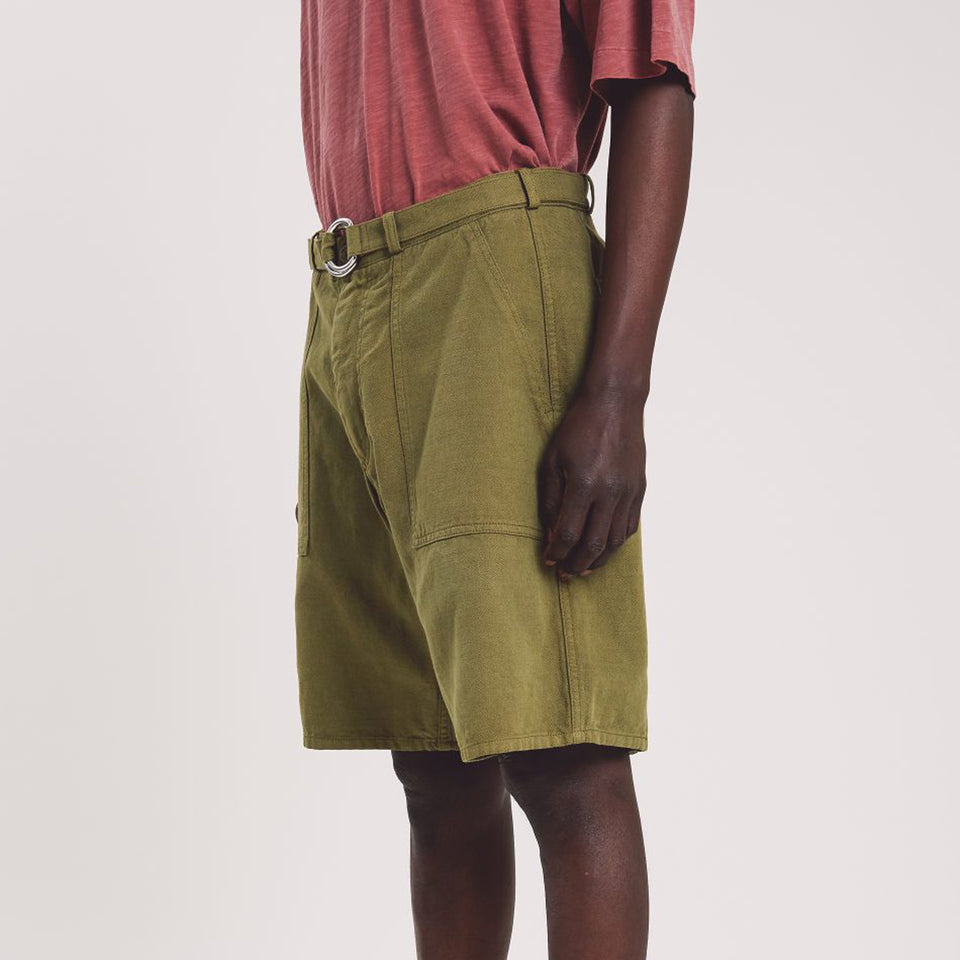 Zip Punk Shorts Olive