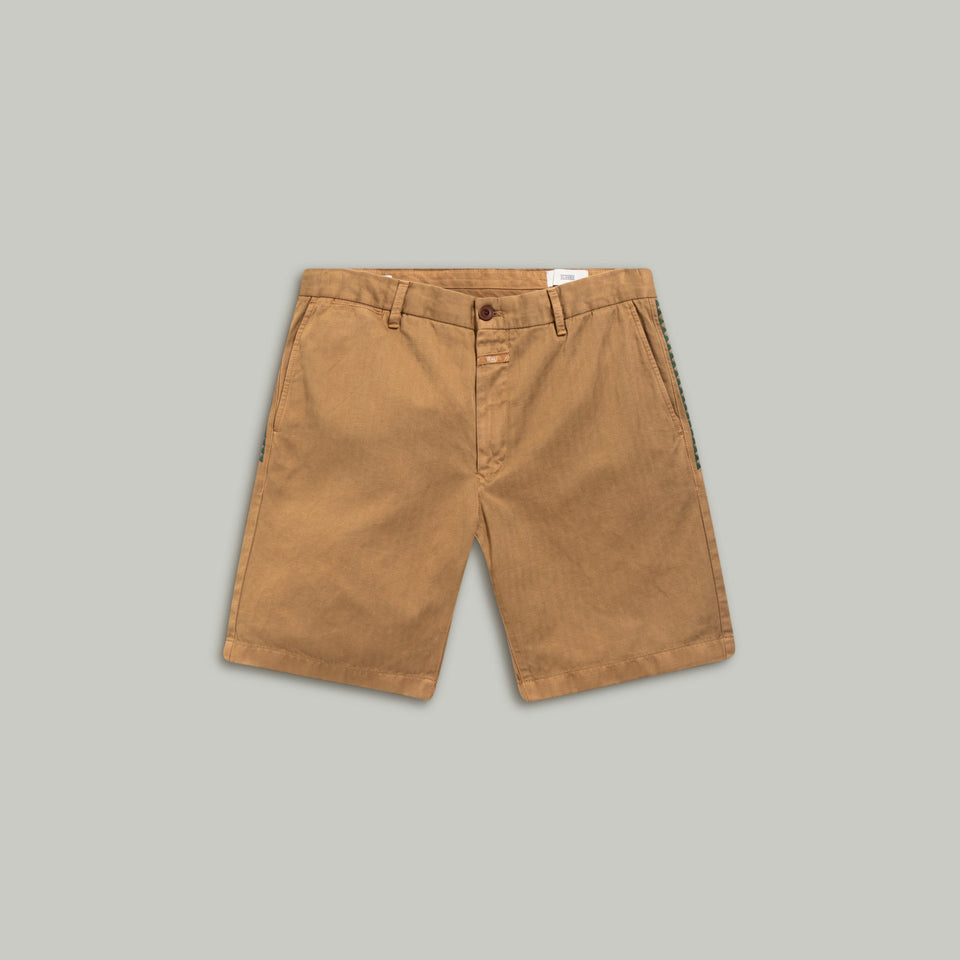 Chino Shorts with Embroidery