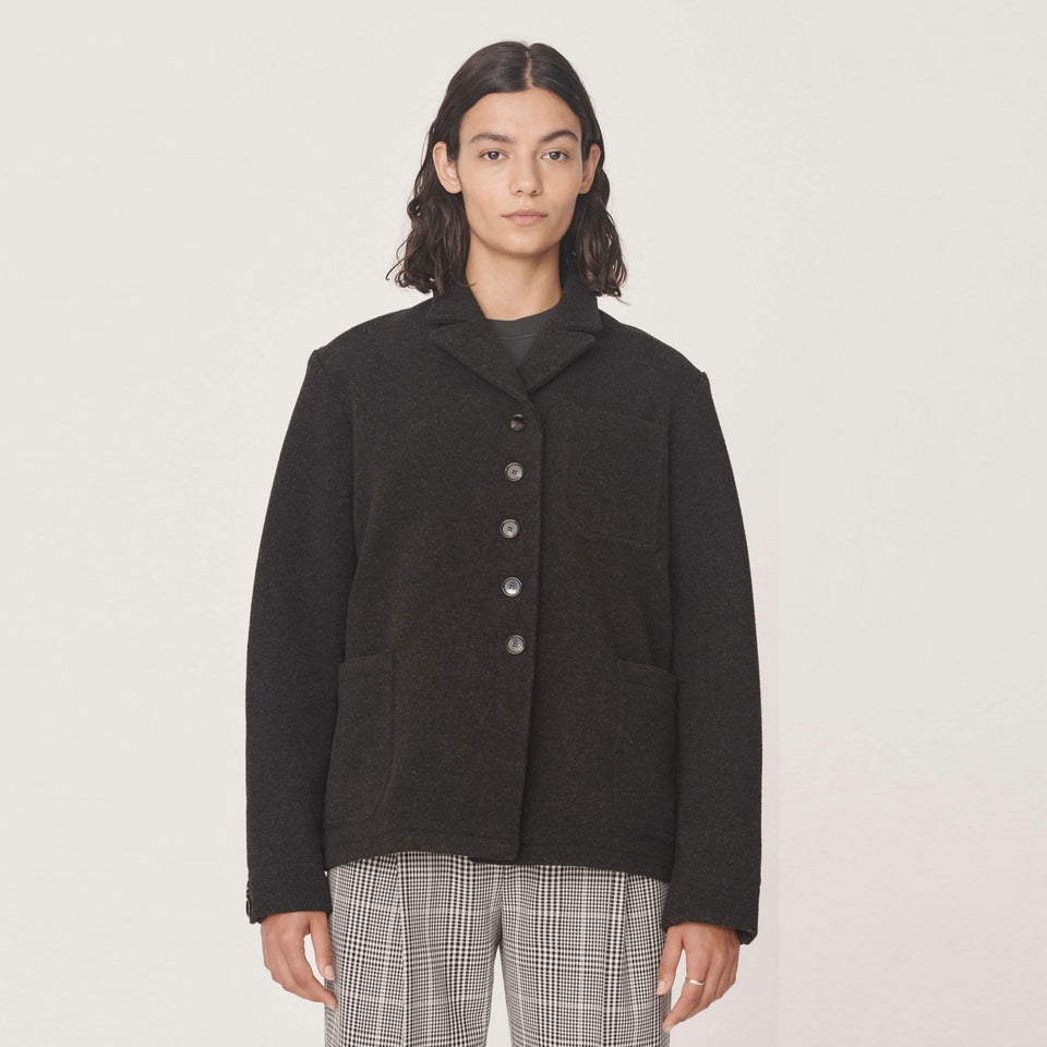 CITY HEAVY WOOL JACKET CHARCOAL