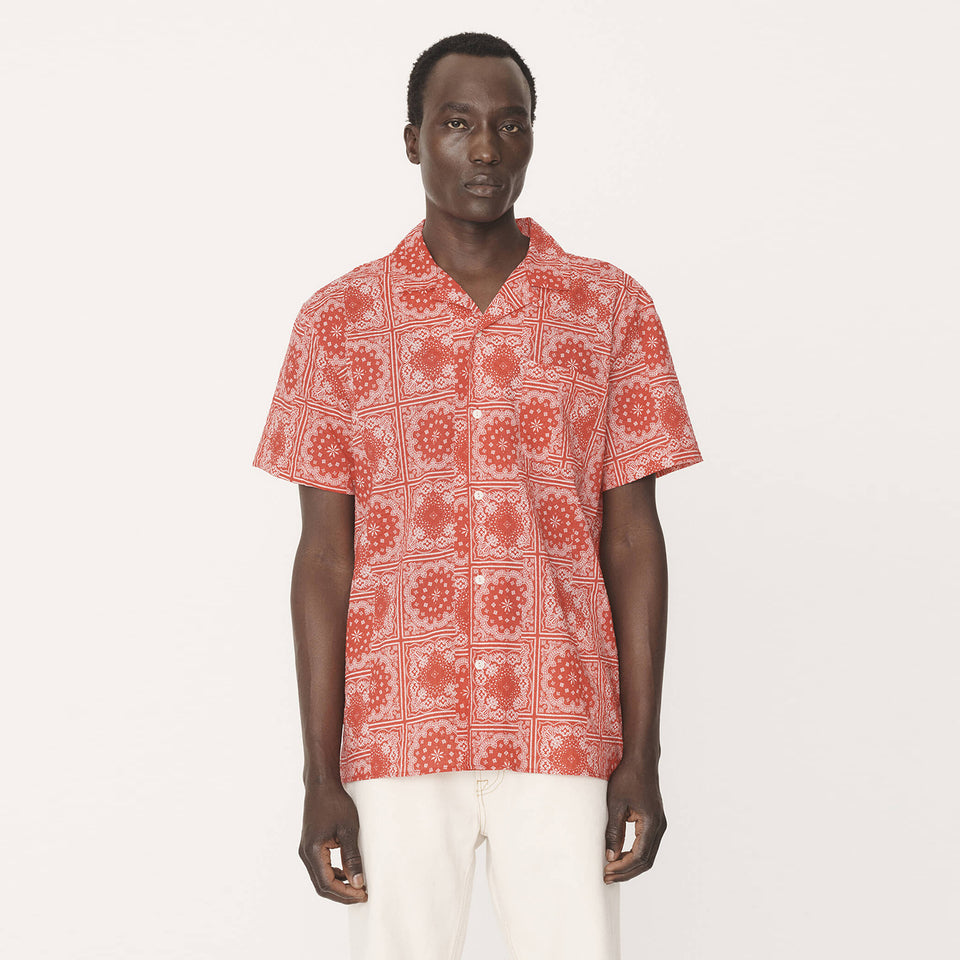 Malick Cotton Bandana Print Shirt