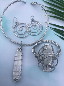Selenite Stone Necklace