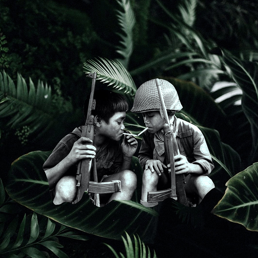 ann le, annsgood, portrait, vietnam, vietnam war, vietnamese, vietnamese artist, female artist, first generation, collage, photomontage, los angeles, art, prints, fine art, contemporary photography, agent orange, black and white photography, appropriation, child soldiers, plants, aloe, foliage, dark, contemporary art, los angeles, graphic design, visual art, lacma, moca, moma, dark, surrealist, surrealism, dada, concept photography