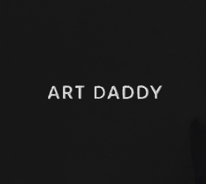 ART DADDY - Embroidered Pull-Over Hoodie Unisex