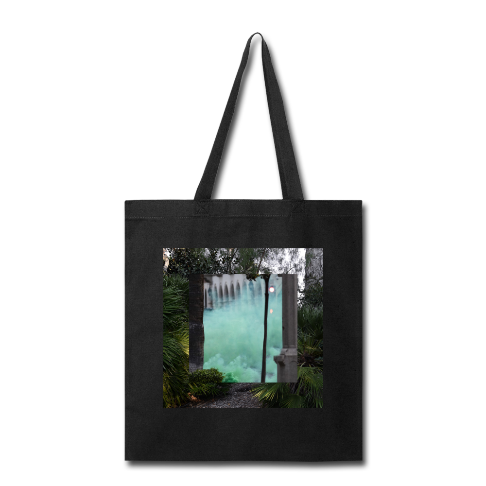 Terrorscape 6 (Green Monster) Tote - black