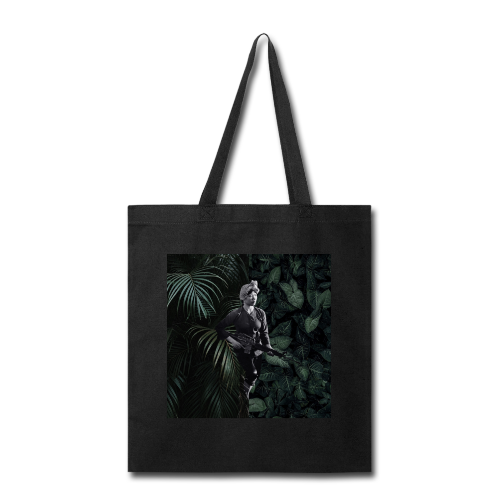 Woman Soldier 1 Tote - black