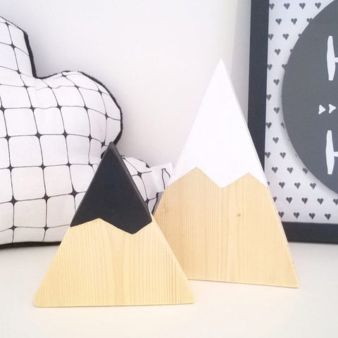 Wooden Mountain Set of Two - Branch & Leaf