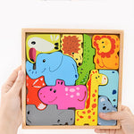 Wooden Animal Puzzle - Branch & Leaf
