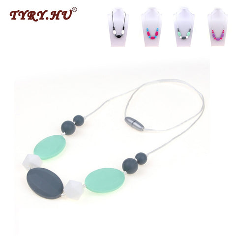 Silicone Chew Necklace - Branch & Leaf