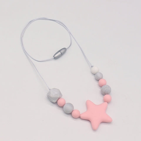 Silicone Star Chew Necklace - Branch & Leaf