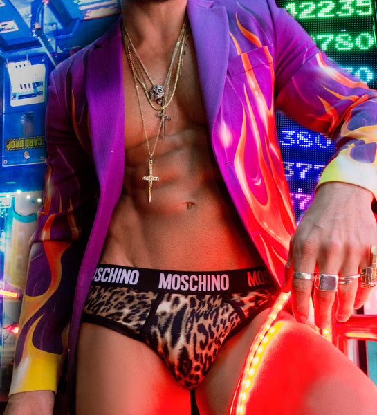 Daniel Garofali shot by Cowan Whitfield/ Moschino x Britt Bolton Jewelry