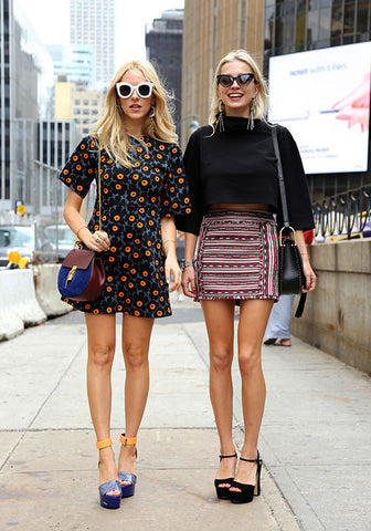 Britt Bolton Jewelry on Caroline Vreeland and Shea Marie during New York Fashion Week