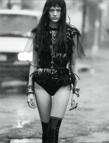 Britt Bolton Jewelry Chain Nacklace in Numero Magazine Black and White
