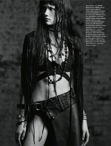 Britt Bolton Jewelry Chain Necklaces in Numero Magazine Black and White
