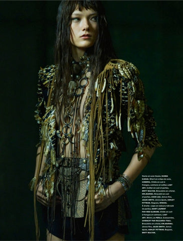 Britt Bolton Jewelry Ring in Numero Magazine