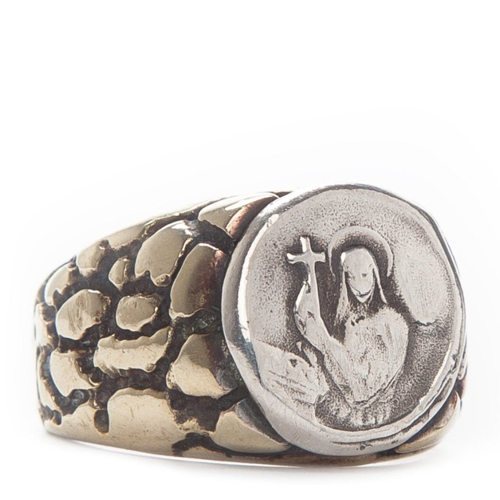 Holy Coin Pebble Ring