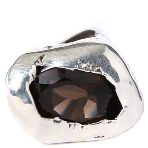 Custom Smokey Quartz Glacier Ring