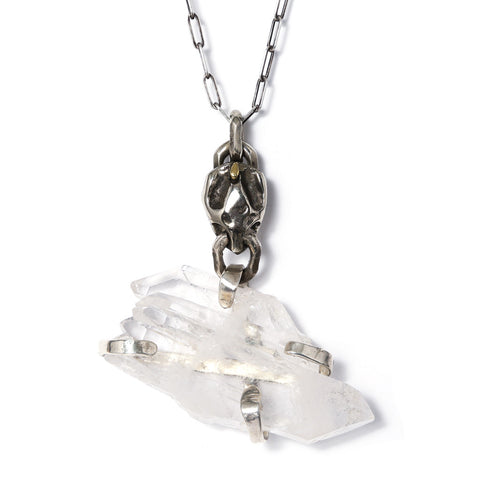 Custom Turtle Skull Quartz Chain