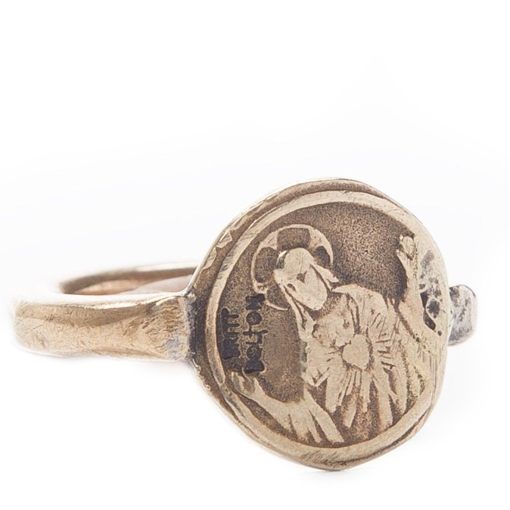 Saint Coin Ring