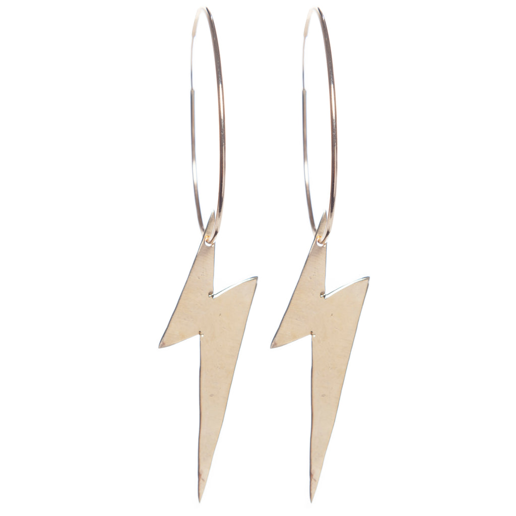 XL Lightning Bolt Hoops 2.5""
