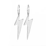 XL Lightning Bolt Hoops 1""