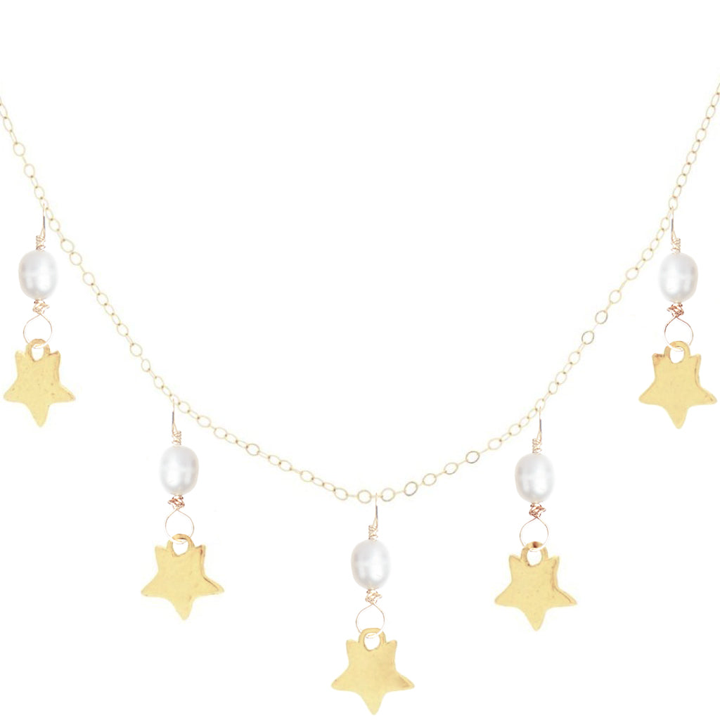Five Star Pearl Necklace