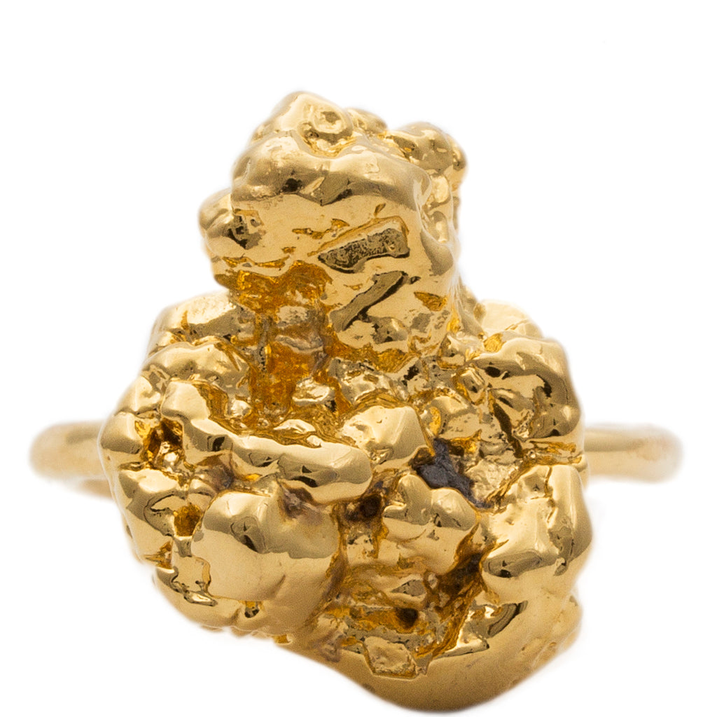 Meteor Nugget Ring Gold