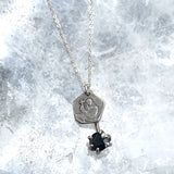 Holy Coin Black Sapphire Necklace