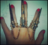 Custom Three Claws Chained Rings