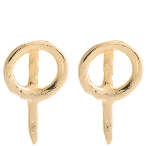 Thorn Studs Gold