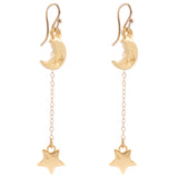 Moon Star Drop Earrings