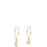"MOON & STAR 1"" HOOPS"