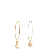 "Moon & Star 1.5"" Hoops"