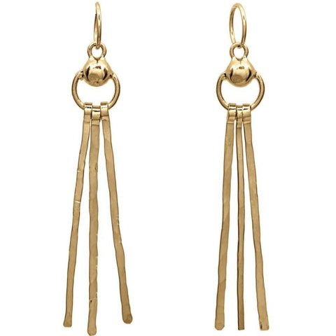 Door Knocker Tassel Hoops - Gold