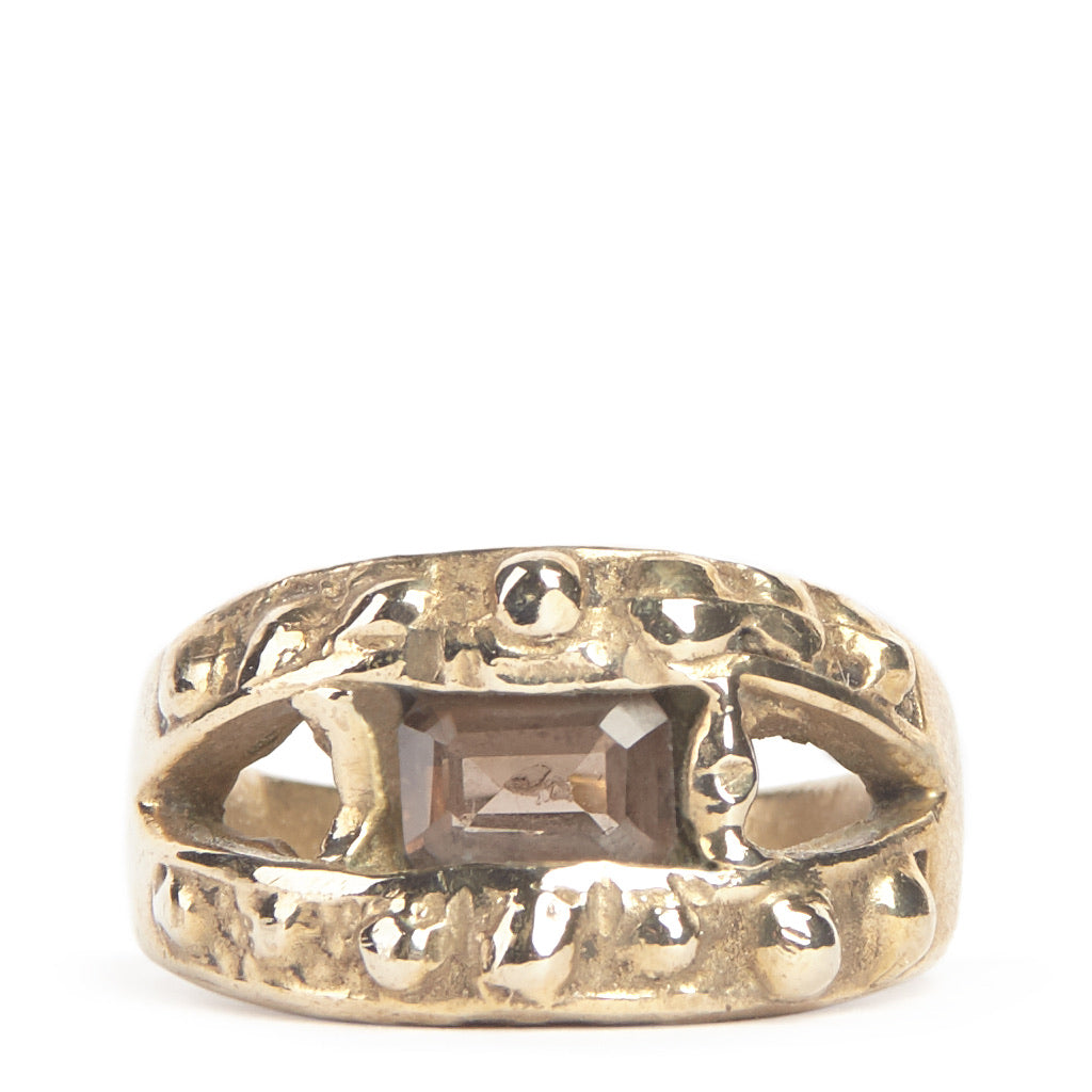 Studded Gemstone Eye ring